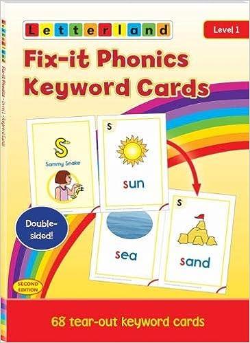 Fix-it Phonics - Level 1 - Keyword Cards 2nd Edition: Amazon.es: Lisa Holt: Libros en idiomas extranjeros