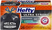 Hefty White Pine Breeze Ultra Strong Large Trash Bags (Multipurpose, Pine, Drawstring, 30 Gallon, 25 Count)(Bl