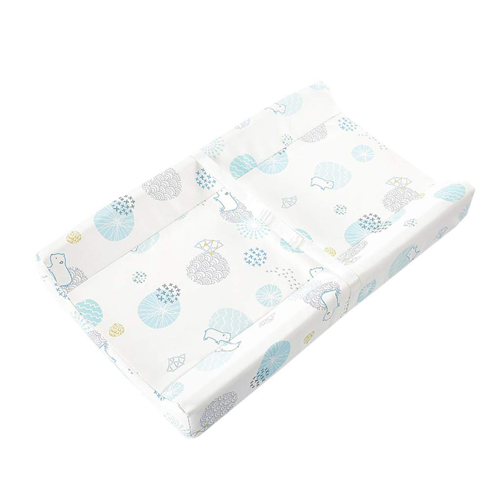 Stretch Fitted Changing Pad Cover - Waterproof PU Leather Stretchy Changing Table Pad Covers for Boys Girls, Blue Pattern by GSH- Changing Table