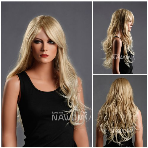 long wave blonde hair wig