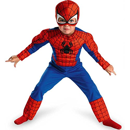 [Spiderman Toddler Size: 3T-4T (Red/Blue)(Discontinued by manufacturer)] (Original Toddler Halloween Costumes)