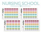 Nursing School Kit Stickers   Planner Stickers Bundle   The Nifty Studio [NKIT]