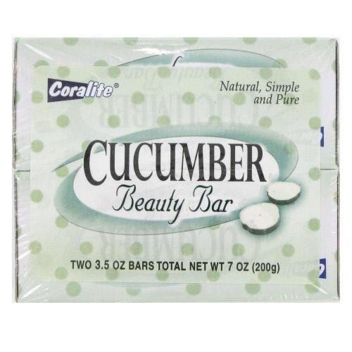 2 Pk 3.5 Oz Cucumber Beauty Soap 24 pcs sku# 893080MA