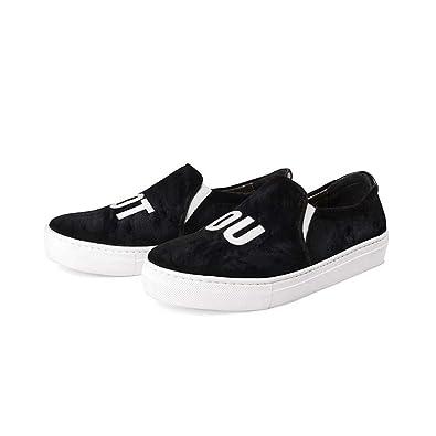 The White Brand Sneakers Velvet Not You black
