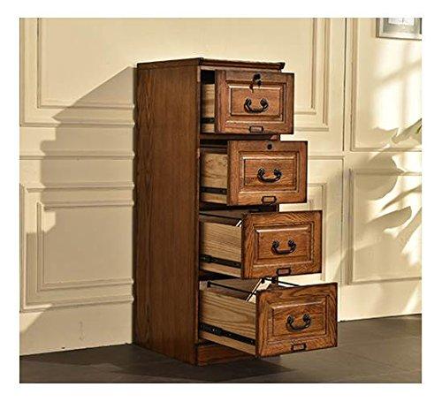 Burnished Cabinet Walnut (4-Drawer File Cabinet in Burnished Walnut Finish)