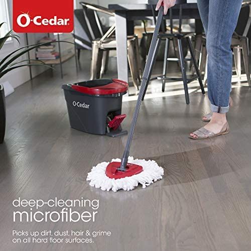 health, household, household supplies, cleaning tools,  mopping 3 discount O-Cedar EasyWring Microfiber Spin Mop, Bucket Floor deals