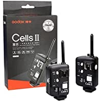 Godox Cells II Kit(2pcs) 1/8000 Sync Speed All-in-One Wireless Remote Ettl Ttl Flash Trigger Canon with Trigger Reveiver and Transmitter also As Wireless Shutter Release for Canon EOS DRSL Camera Connet Studio Strobe Monolight Flash Speedlite and Neewer/Godox V850, V860,Ad360 Ad180