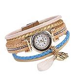 Appoi Wrist Watch For Girls Stylish Fine Leather Band Winding Analog Quartz Movement Women Wrist Watch