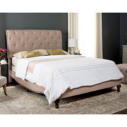 Natural Oak Daybed (Safavieh Home Collection Hathaway Light Beige & Rustic Oak Bed, Full)