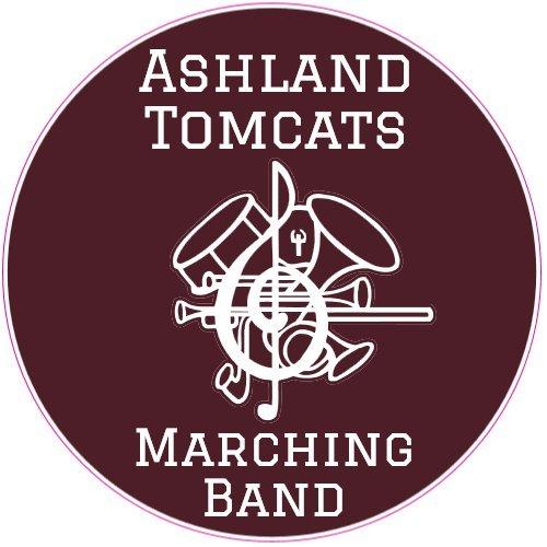 (U.S. Custom Stickers Ashland Tomcats Marching Band Circle Sticker, 9