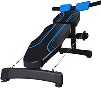 YFFSS Adjustable Arc-Shaped Decline Sit up Bench Crunch Board Exercise Fitness Workout Dumbbell Bench Ergonomic Design Gym Quality Sit Up Bench Workout Machines for Home Black and Blue