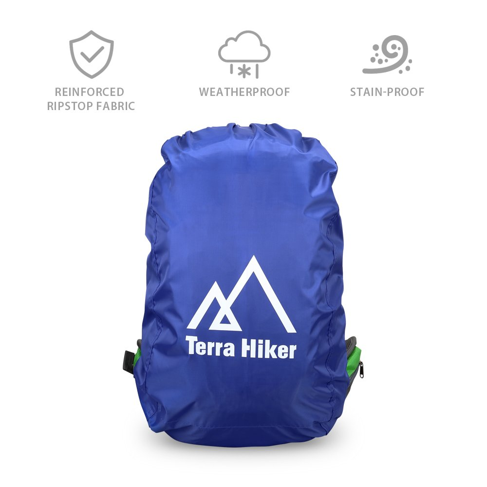 Azul, S Cubierta protectora de Lluvia para Mochilas Terra Hiker para actividades al Aire Libre