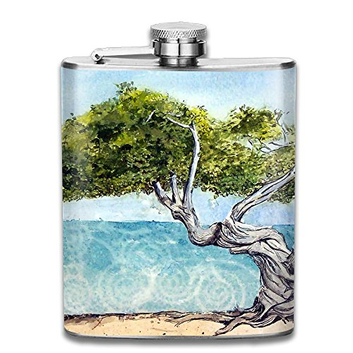 JIUHUBX Bastract Divi Tree Painting Stainless Steel Liquor Flagon Retro Pocket Flask\Stainless Steel Travel Flask Great Little Gift,Safe And Nontoxic