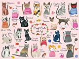 "Mudpuppy Cool Cats 1000 Piece Puzzle – Whimsical Carolyn Gavin Illustrations of 23 Cats with Finished Puzzle 20"" x 27"""
