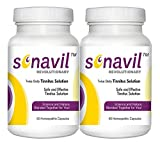 Tinnitus Relief including ringing in ears, clicking, roaring, buzzing with all natural Sonavil. #1 Tinnitus treatment specially formulated to safely and effectively manage Tinnitus related ear issues. 60 Capsules (1 Month Supply) with a 100% Lifetime Money Back Guarantee – 2 Pack