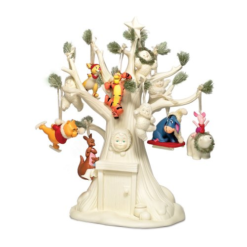 Department 56 Snowbabies Guest Collection Very Pooh Christmas Tree and Ornament Set