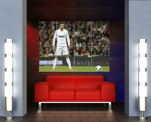 Cristiano Ronaldo Poster - Free Kick Stance Giant Art Print OZ178