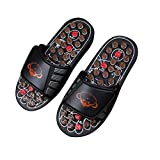 FJY Foot Massage Slippers Reflexology Acupressure Massager Health Mules Care Sandals With Rotating Acupuncture Points Feet Care Promote Blood Circulation,Professional Edition, black, 42/43 EU