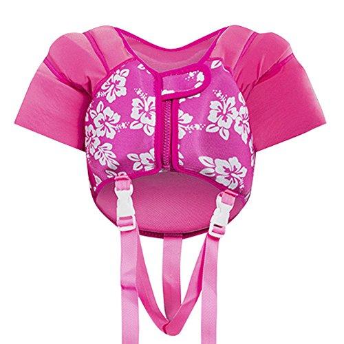 (Nachvorn Life Jacket Swimming Floatation Vest for Child Toddlers & Kids Red S)