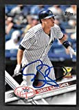 #5: Gary Sanchez New York Yankees Autographed Signed 2017 Topps Card-- COA - (Near Mint Condition)