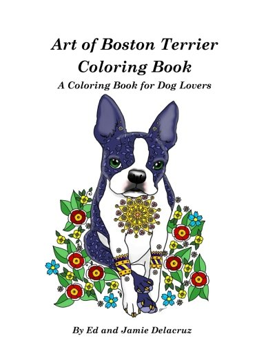 Art Boston Terrier Coloring Book product image