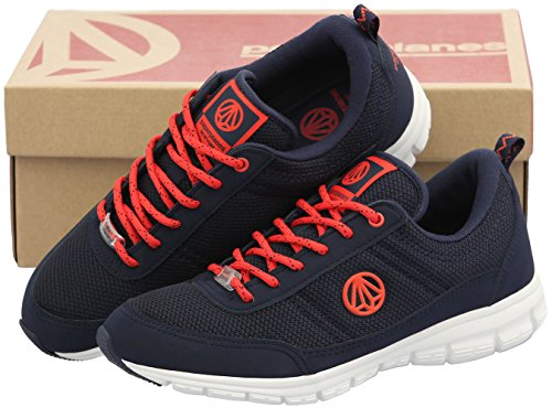 Paperplanes-1201 Unisex Super Lett Mesh Walking Joggesko Sko 1201-navy Orange