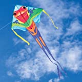 """Large Easy Flyer Kite - Poison Dart Frog (46"""" X 90"""") with 300 Ft 30lb Test Kite String and Winder"""
