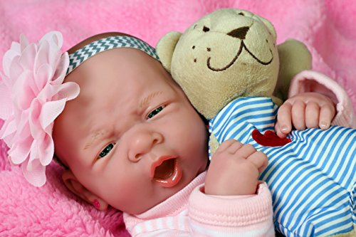 My Baby Realistic Berenguer 15 inches Anatomically Correct Real Girl Baby Washable Doll Soft Vinyl accessories