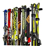 Omni Ski and Snowboard Storage Rack | Wall Mount Home & Garage Storage System