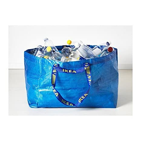 965f08e9b3 FRAKTA BLUE LARGE SHOPPING, LAUNDRY BAG SET OF 3: Amazon.co.uk: Kitchen &  Home