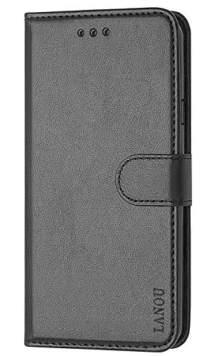 LANOU Case for Galaxy Grand Prime, Premium Leather Phone Case with Card Slots and Viewing Stand Function Flip Cover for Samsung Galaxy Grand Prime G530/J2 Prime (Black)