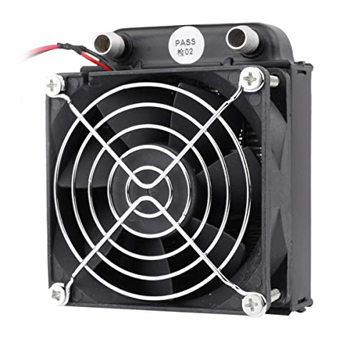 Clyxgs 8 Pipe Aluminum Heat Exchanger Cooling water drain water cooling radiator water cooling row with fan Radiator for PC CPU CO2 Laser Water Cool System Computer 240mm/360mm (80mm)
