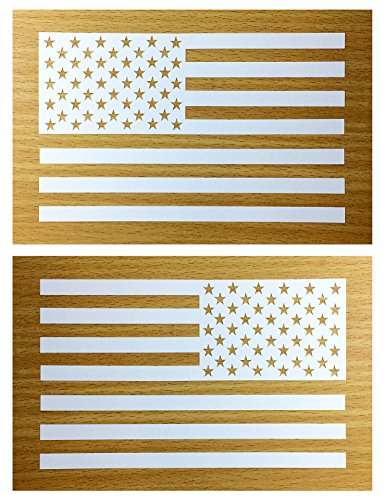 (American Flag Decal Sticker Die-cut Vinyl Tactical Military USA Merica United States Marines Army Navy Airforce Pair (6.5