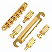 AIRSUNNY 1set ABR-1 Style Tune-o-matic Bridge & Tailpiece Gold para reemplazo de engranaje Gibson Les Paul