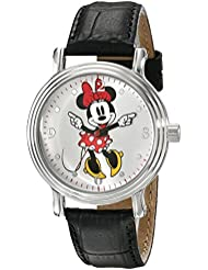 Disney Womens W001878 Minnie Mouse Analog Display Analog Quartz Black Watch