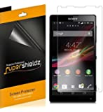[6-Pack] SUPERSHIELDZ- High Definition Clear Screen Protector for Sony Xperia ZL + Lifetime Replacements Warranty Sony Xperia ZL Screen Protector [6-PACK] - Retail Packaging