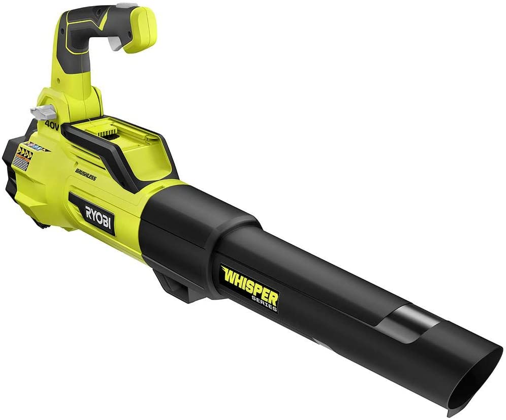 RYOBI 40-Volt Bare Tool Lithium-Ion Brushless Cordless Variable-Speed 125 MPH 550 CFM Jet Fan Leaf Blower GEN4 (Tool-Only)