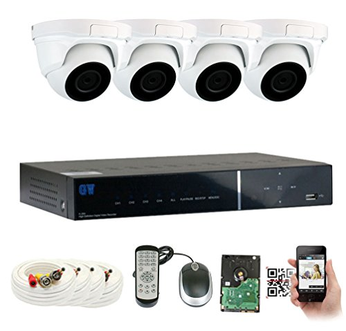 GW Security 4 Channel Color Night Vision 2.1MP HD 1080P Star