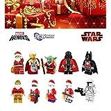 ABG toys Minifigures STAR WARS MARVEL DC Comics Super Heroes CHRISTMAS Santa Harley Quinn, C-3PO, Deadpool, The Joker, Darth Vader, Yoda, Batman, Boba Fett Minifigure Series Building Blocks Sets Toys