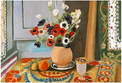 Matisse Rose (Henri Matisse Les Anemones Flowers Art Print Poster 19 x 13in)