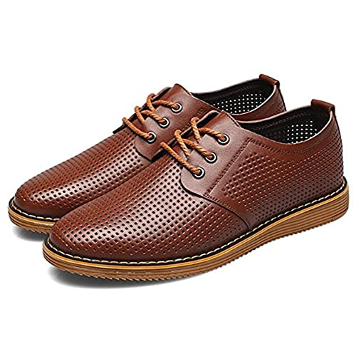Robert Reyna Fashion Men's Hollow Out Slip On Shoes Formal Oxfords