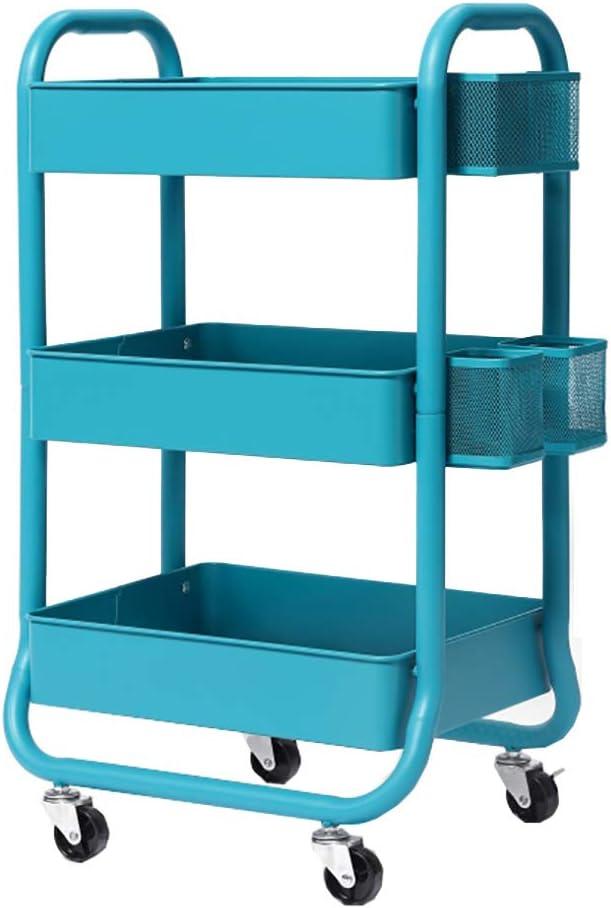 5 Tier Mobile Kitchen Fruit Vegetable Food  Mesh Storage Trolley Basket Shelf