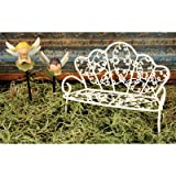 "Blossom Bucket ""Mini White Garden Bench Decor"