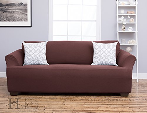 Form Fit, Slip Resistant, Stylish Furniture Shield / Protector Featuring Plush, Heavyweight Fabric. Cambria Collection Deluxe Strapless Slipcover. By Home Fashion Designs Brand. (Sofa, - Sale Comet Clearance