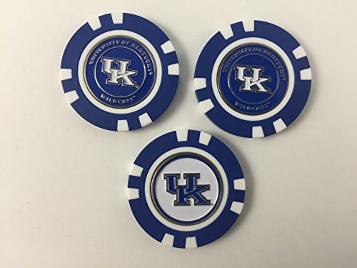 Team Golf Kentucky Wildcats Poker Chip Set, 3 Pack, with Removable Markers