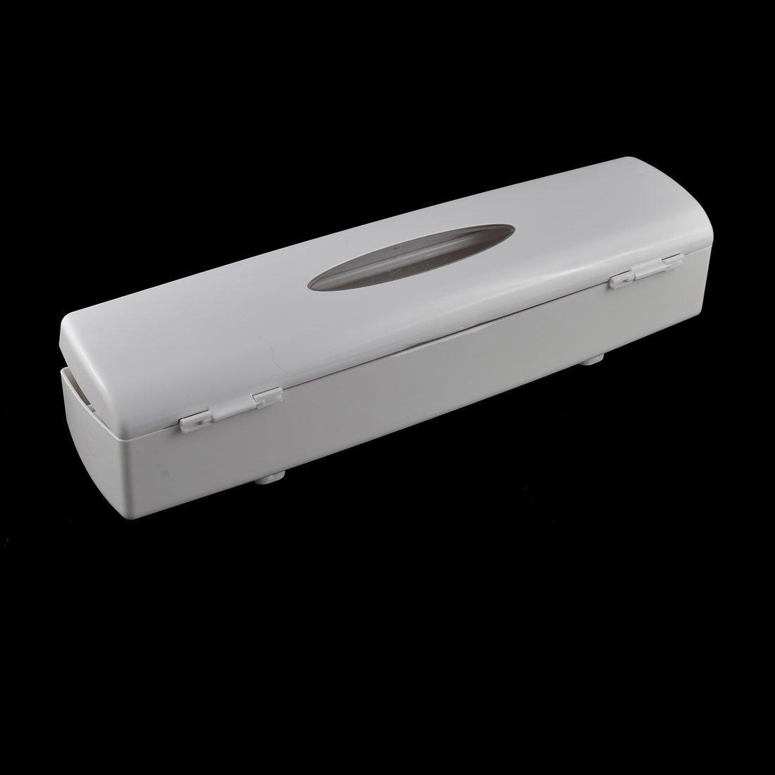 Amazon.com: eDealMax casero cocina Wraptastic Smart Food papel de aluminio Papel de cera blanca dispensador: Kitchen & Dining