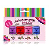 Piggy Paint - 100% Non-toxic Girls Nail Polish, Safe, Chemical Free, Low Odor for Kids - 4 Polish Gift Set (Scented)