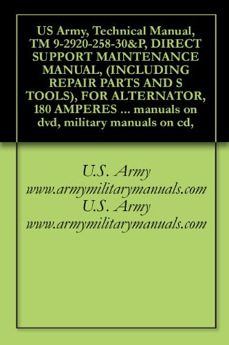 US Army, Technical Manual, TM 9-2920-258-30&P, DIRECT SUPPORT MAINTENANCE MANUAL, (INCLUDING REPAIR PARTS AND S TOOLS), FOR ALTERNATOR, 180 AMPERES MODEL ... manuals on dvd, military manuals on cd,