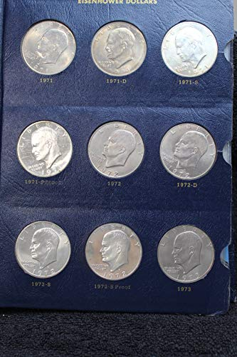 (Complete Set Eisenhower (Ike) Dollars 1971 - 1978 PDS in Whitman Album -- All Key Dates including 1979 Transitional Year SBA Dollars All High Grade Mint State BU and Proof)
