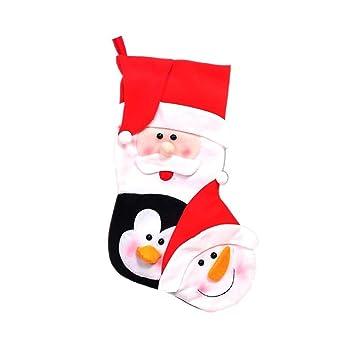 Amazon.es: Toyvian Medias navideñas Adornos navideños Dulces ...